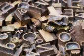 Металл letterpress — Стоковое фото