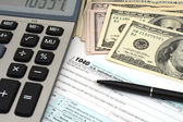 Financial IRS individual tax return 1040 — Stock Photo