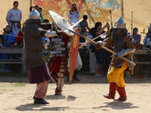 Medieval Warriors Fight — Stock Photo