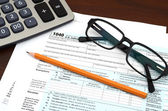 Tax Preparation - Financial IRS Individual Tax Return 1040 Form — Stock Photo