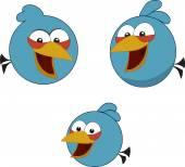 Angry birds. The blue birds — Stock Vector