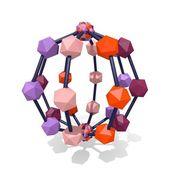 3d molekulární struktura — Stock fotografie