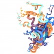 3d abstract curved shapes — Stock Photo #60948253