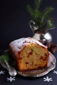 Boże narodzenie ciasto z rodzynkami — Zdjęcie stockowe