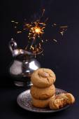 Cookies with Christmas sparkles — Stock Photo