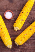Corn grilled with rosemary — Stock Photo