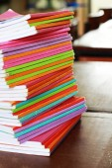 Multi-coloured books — Stock Photo