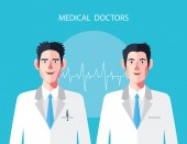 Flat characters of doctor's concept illustrations — Stock Vector