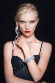 Nordic elegant girl with shiny bracelet — Stock Photo