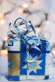 New year present box — Stock Photo