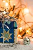 Christmas present box — Stock Photo