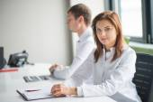 Medical consultation with two doctor — Stock Photo