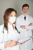 Two doctos in masks — Stock Photo