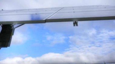 Timelapse pohled solární panel v akci — Stock video