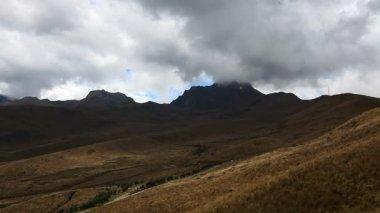 горная сцена под кито, эквадор — Стоковое видео