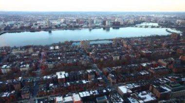 Une vue de timelapse d'un quartier de Boston — Vidéo