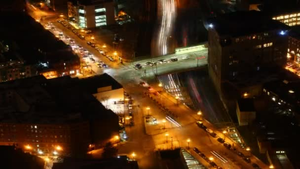 A timelapse view of the Boston Skyline at night — Vidéo