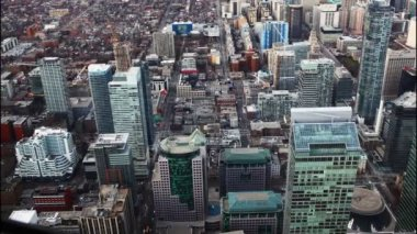A timelapse aerial view of Toronto, Canada buildings — Stock Video
