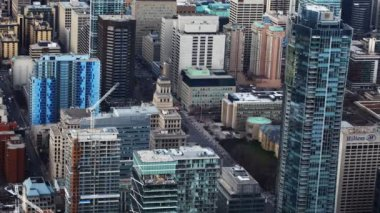 A timelapse aerial view of Toronto buildings — Stock Video