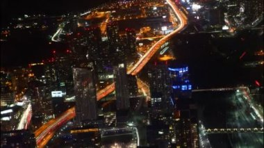 A timelapse aerial view of Toronto traffic at night — Stock Video
