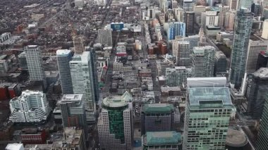 Aerial view of Toronto, Canada streets — Vídeo Stock