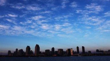 Un timelapse veduta dello skyline di San Diego — Video Stock