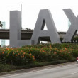 Los Angeles Airport sign (LAX) during day — Stock Video #63535549