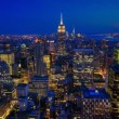 A beautiful timelapse from night to day in the heart of Manhattan — Stock Video #64225169