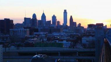 Philadelphia a timelapse from the Franklin Bridge — Stock Video