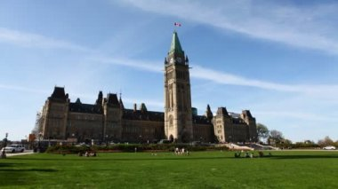 A timelapse view of Parliament in Canada — Stock Video