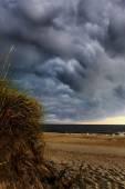 Cape Hatteras com nuvens de tempestade violenta — Fotografia Stock
