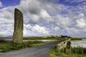 De staande steen bekend als de Watchstone in Orkney, Schotland — Stockfoto