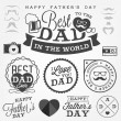 Happy Father's Day Badges and Labels in Vintage Style — Stock Vector #65526673