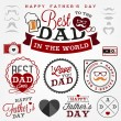 Happy Father's Day Badges and Labels in Vintage Style — Stock Vector #65526675