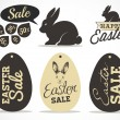Easter Greeting Card Design Elements and Easter Sale Badges and Labels in Vintage Style. Vector Illustrations — Stock Vector #65583325