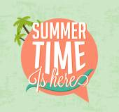 Summer Time Is Here Calligraphic Designs in Vintage Style — Vettoriale Stock