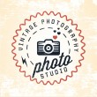 Photography Badges and Labels in Vintage Style — Stock Vector #65675835