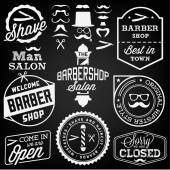 Collection of Vintage Barber Shop Design Elements — Stock Vector