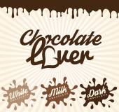 Chocolate Design Elements in Vintage Style — Wektor stockowy