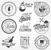 Collection of Restaurant Menu Design Elements in Vintage Style — Wektor stockowy