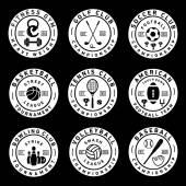 体育徽章和标签中的复古风格 — 图库矢量图片