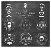 Vintage Barber Shop Badges and Labels — Vector de stock