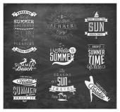 Summer Beach Vector Calligraphy Design Elements in Vintage style — 图库矢量图片