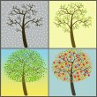 Trees collection - four seasons — Stock Vector #52555183