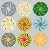 Set of colored circles — Stock Vector