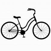 Silhouette-Fahrrad — Stockvektor