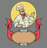 Chef in retro style — Stock Vector