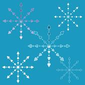 Openwork snowflakes — ストックベクタ