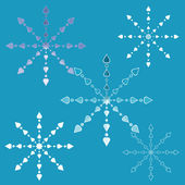 Openwork snowflakes — 图库矢量图片