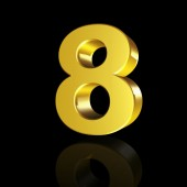 Numer osiem z efektem 3d — Zdjęcie stockowe